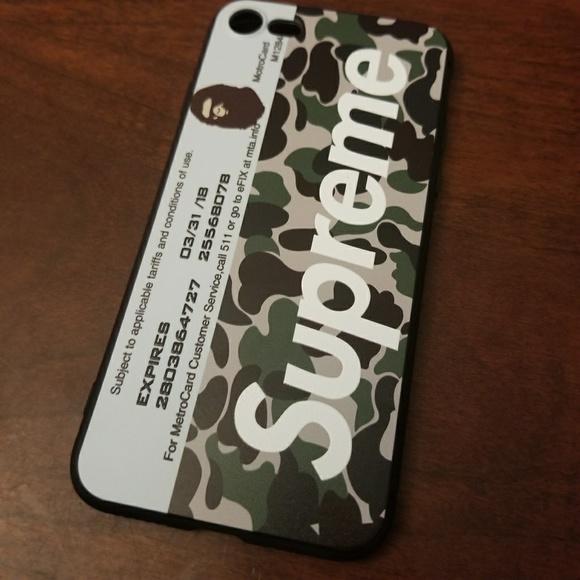 CAMO BAPE SUPREME iphone case